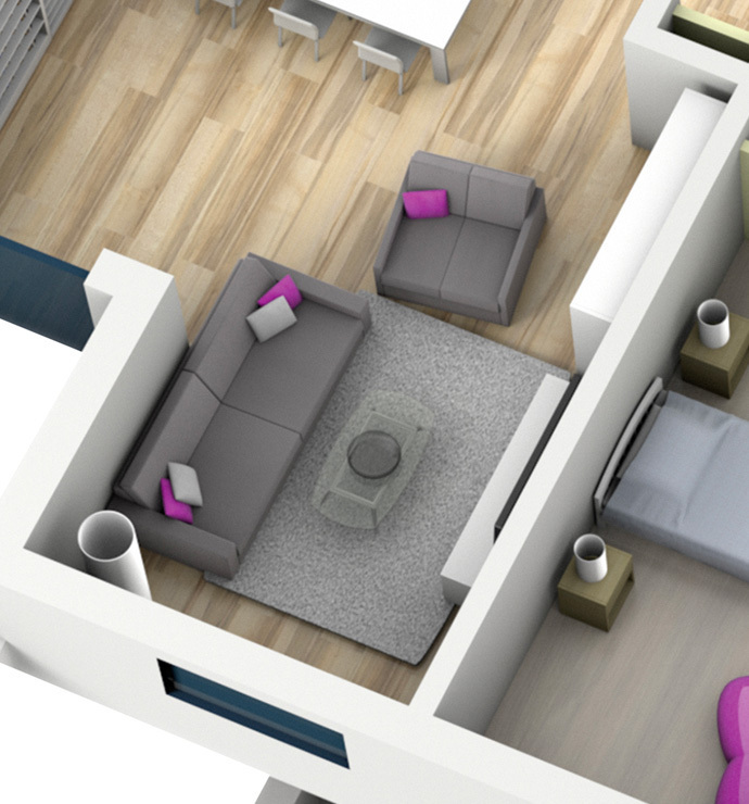 Özel odalar: yaşama alanları