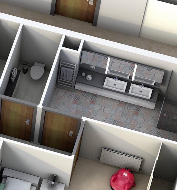 Özel odalar: tuvalet ve banyolar